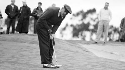 Boxing Champ Joe Louis Golfing at Open Golf Championships