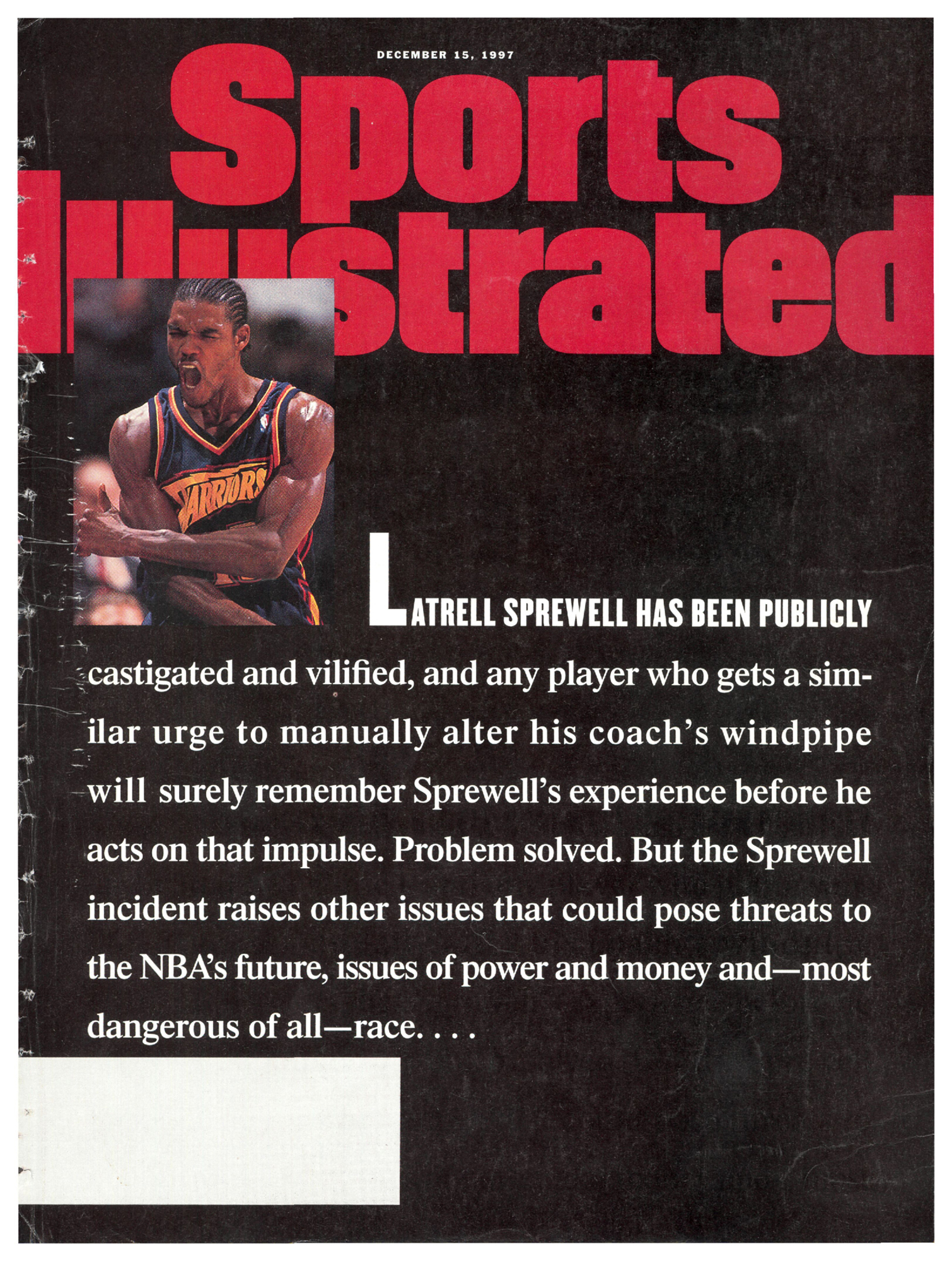 7d595bfe7ec7 A look back at Latrell Sprewell s very angry  Sports Illustrated  cover