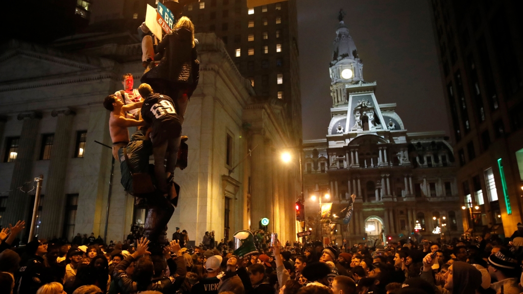 Philly S Post Super Bowl Celebration Was Really A Riot