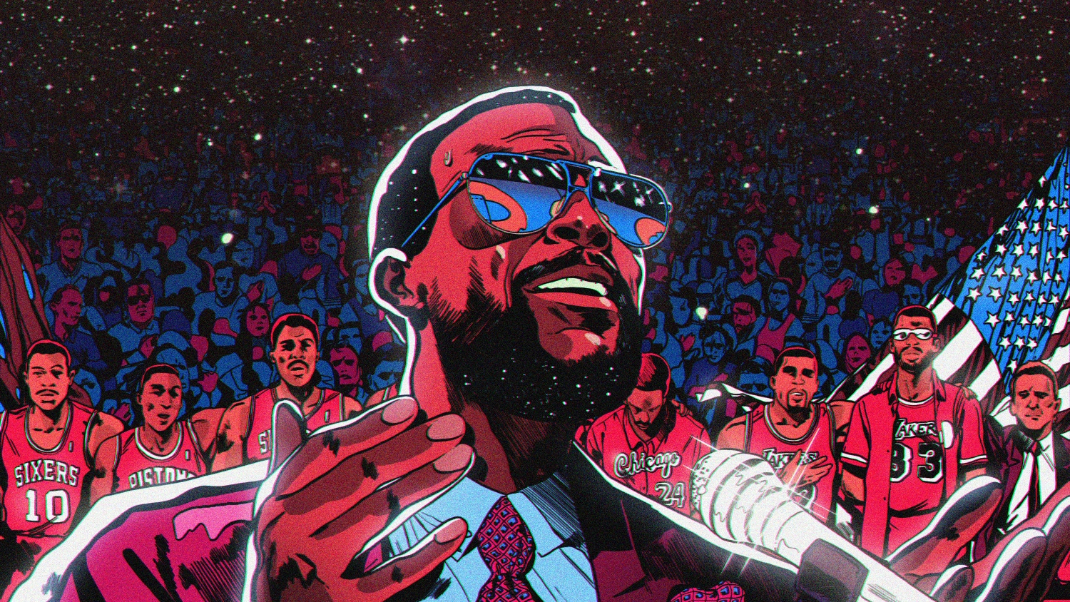 The players  anthem  when Marvin Gaye sang  The Star-Spangled Banner  at the  1983 All-Star Game 4b76cfc85