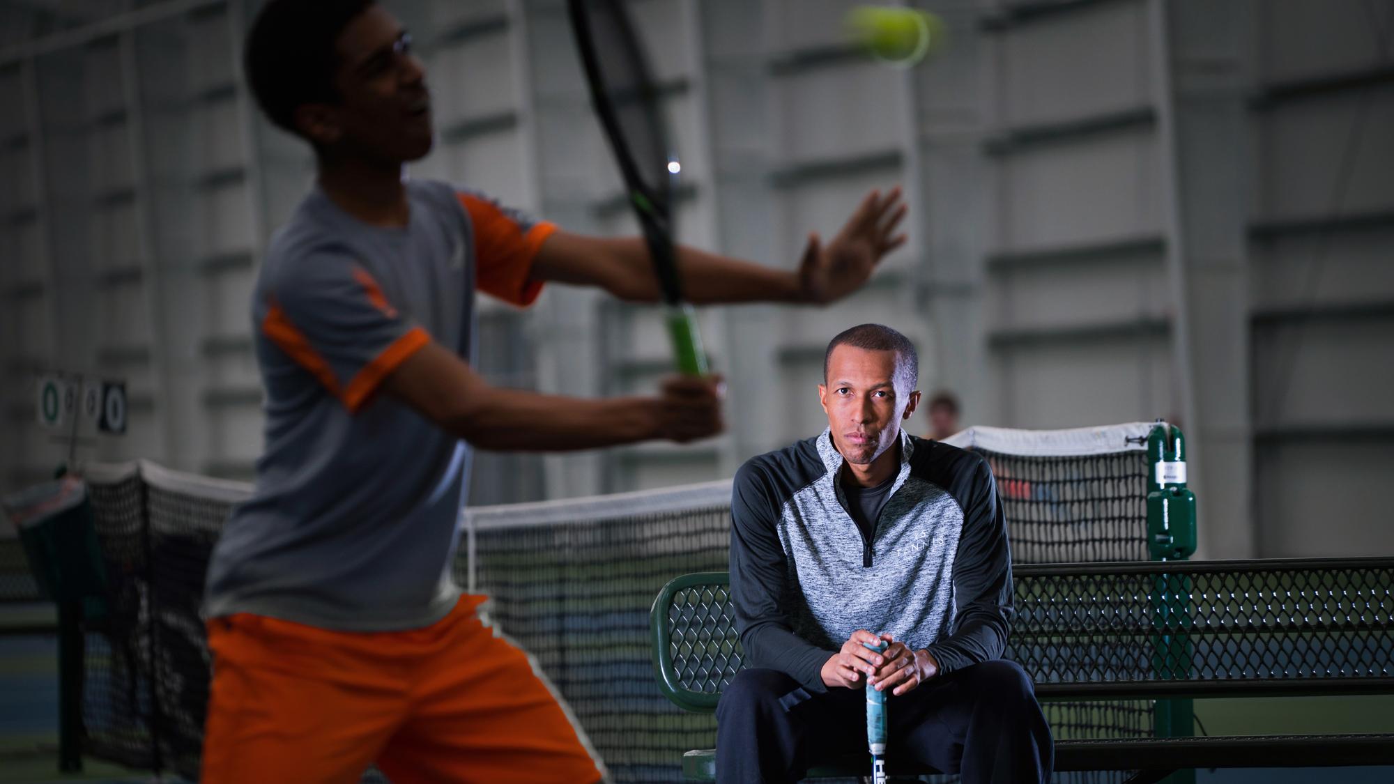 Tennis coach Kamau Murray trains the next generation.