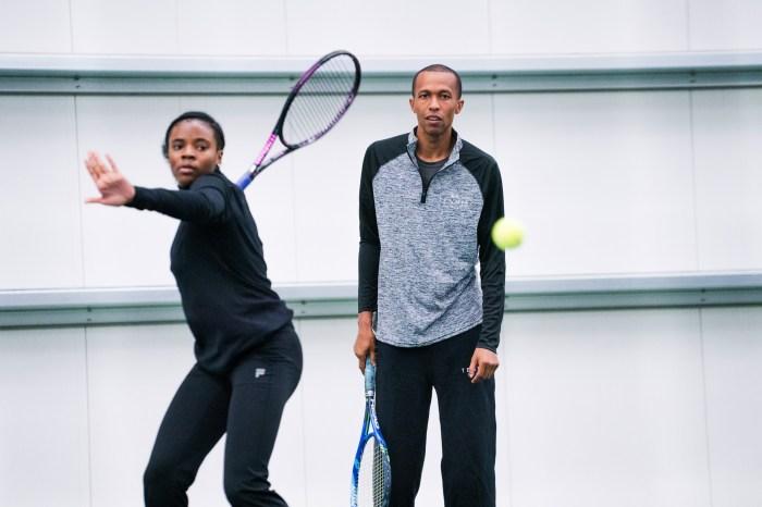 7cb32f0b41c8 Tennis coach Kamau Murray works with Samantha Brassel