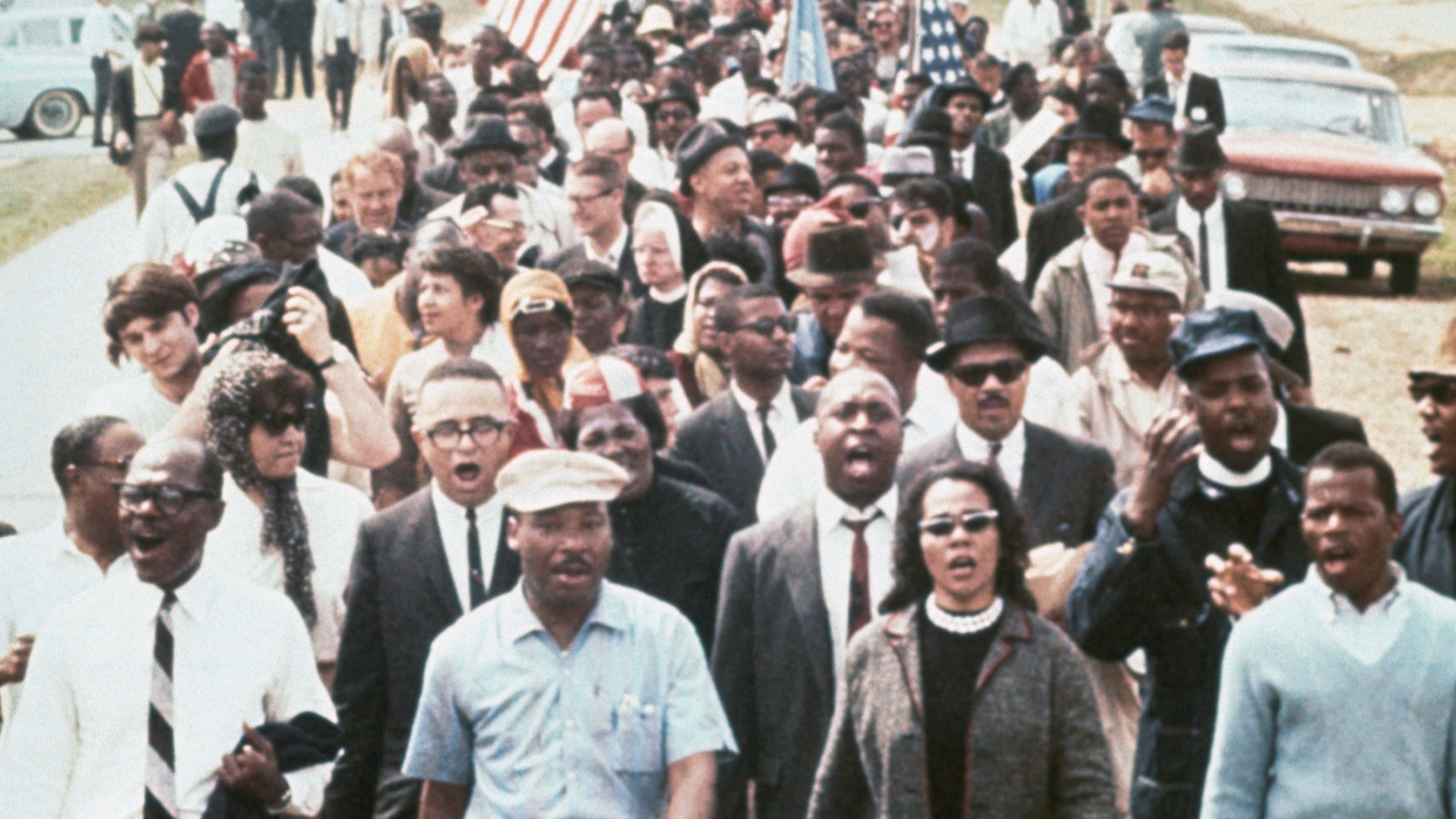 Martin Luther King Leading a Civil Rights March