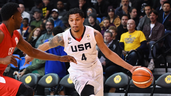 606dc2cb733 Damion Lee represents Team USA just like future brother-in-law Stephen Curry