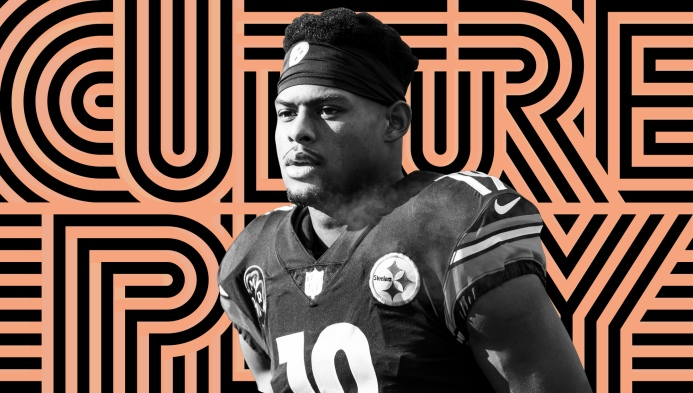 finest selection fff08 fe0f3 The Pittsburgh Steelers' JuJu Smith-Schuster loves his dog ...