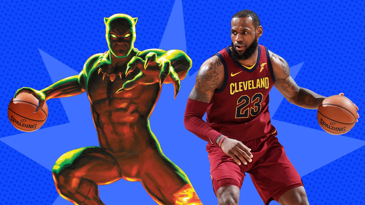 673dda902aec King James is king of Wakanda as NBA WNBA players meet their Marvel matches