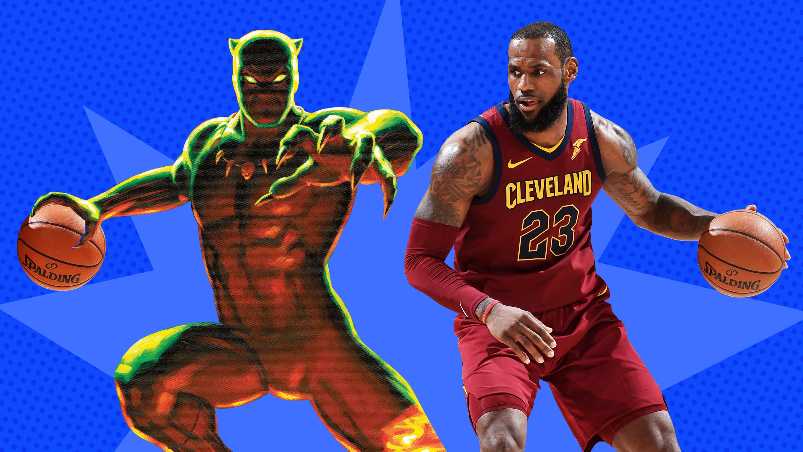 8d817eff82e King James is king of Wakanda as NBA/WNBA players meet their Marvel matches