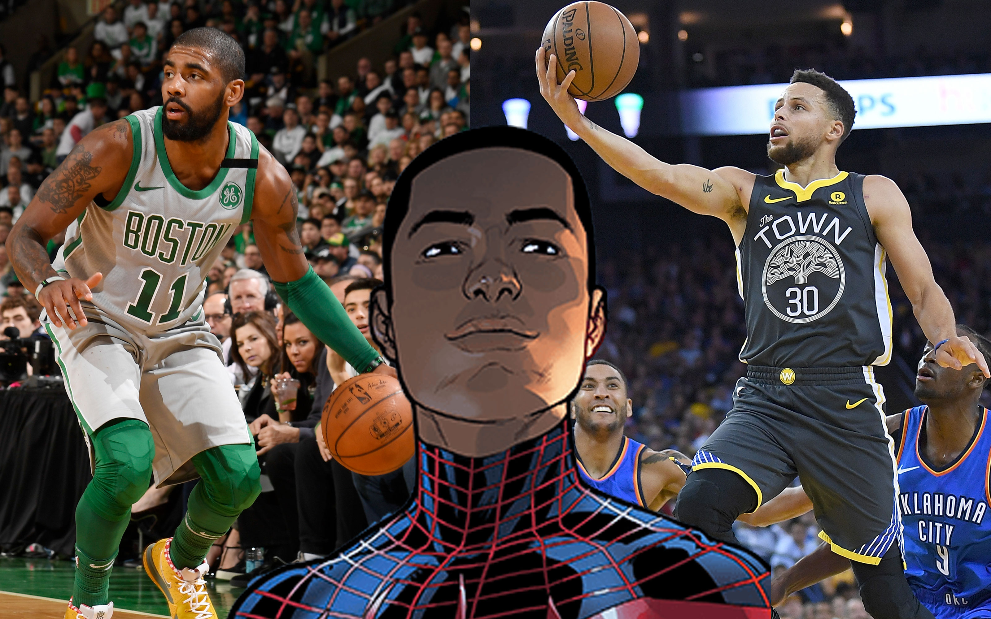 new concept 11ecd 506f7 Miles Morales   Stephen Curry Kyrie Irving