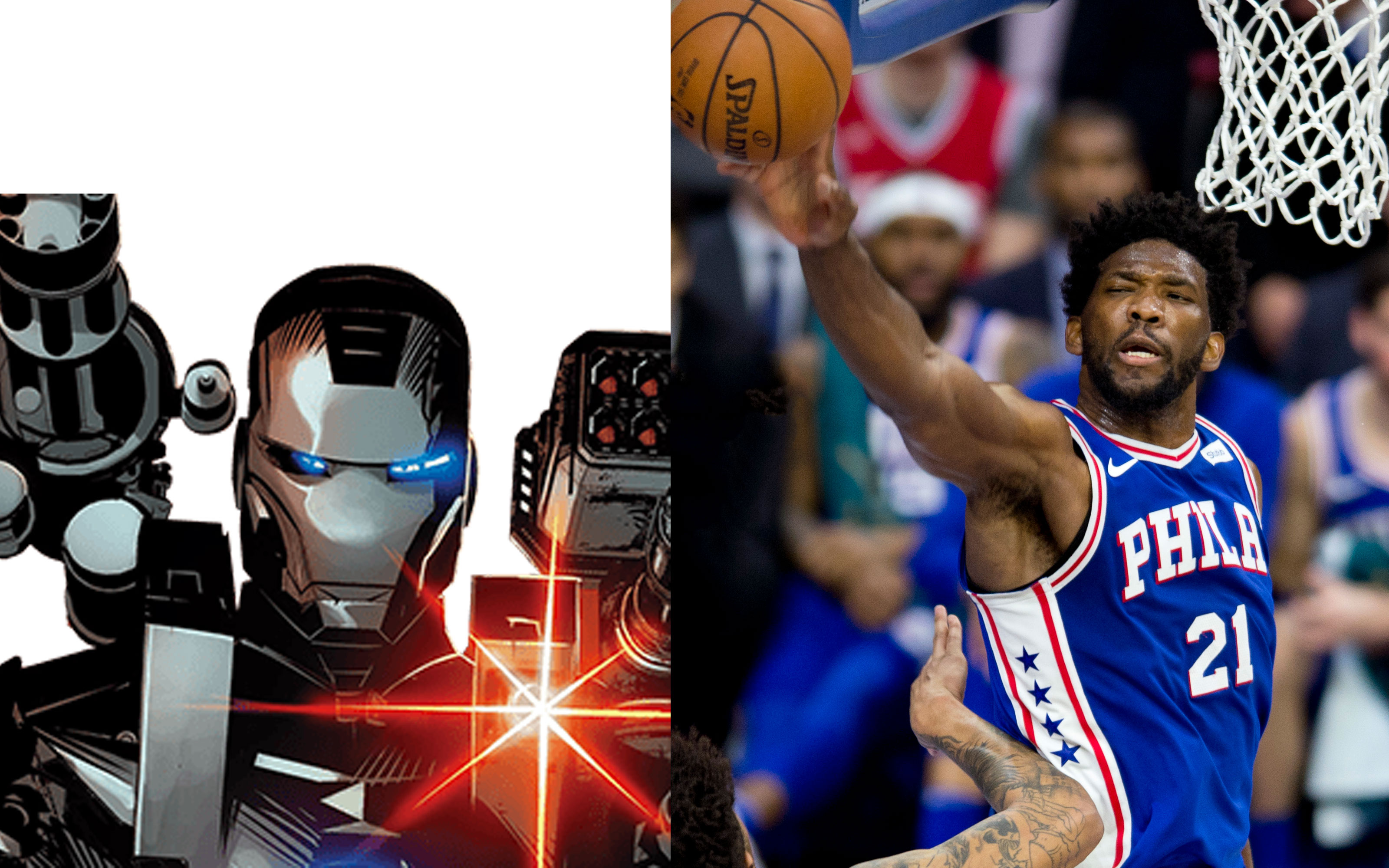 "5ada4fd40668 James ""Rhodey"" Rhodes was born and raised in Philadelphia. Embiid is the  center for the Philadelphia 76ers. Rhodes"