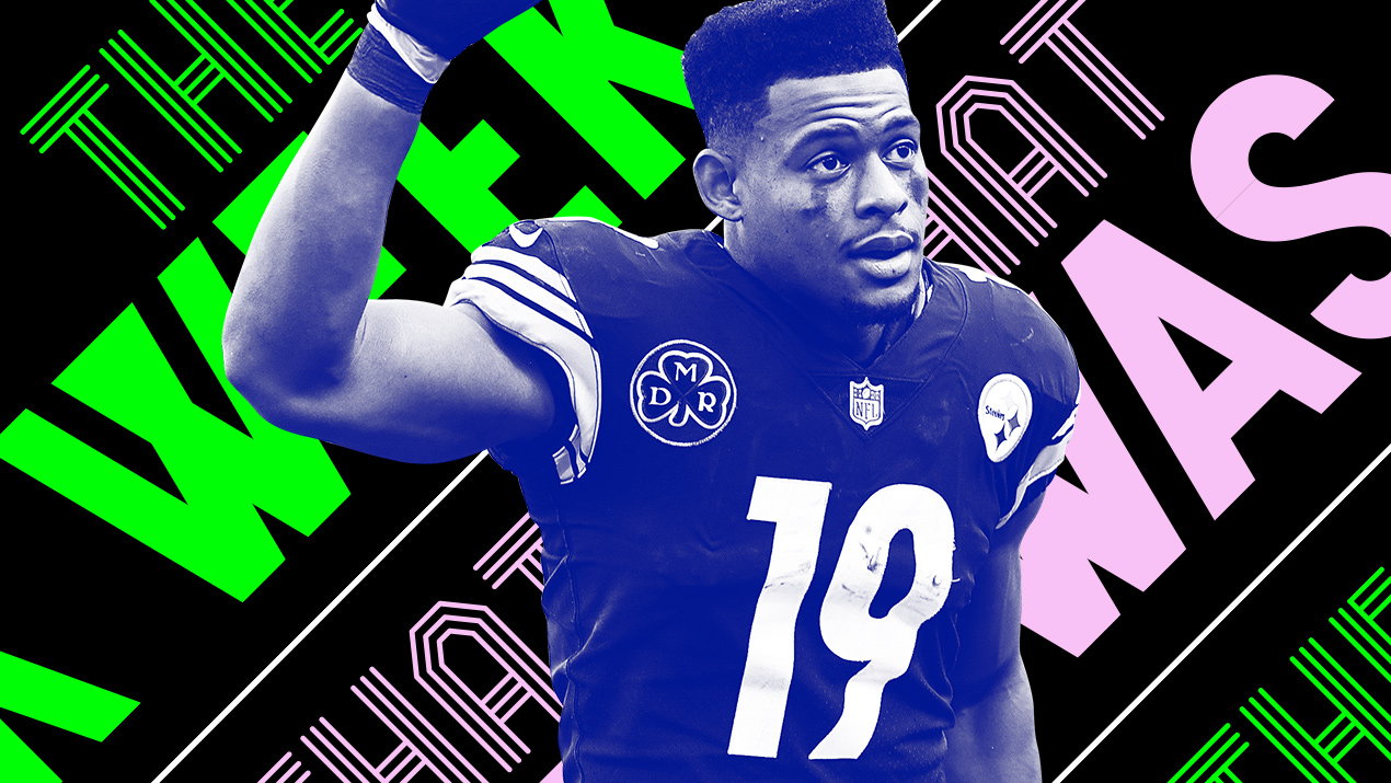 5b851965b79 JuJu Smith-Schuster flipped off the Patriots and other news of the week