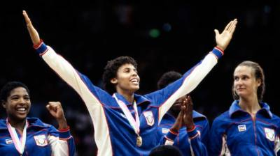 Women's Basketball Medal Ceremony At The 1984 Summer Olympics