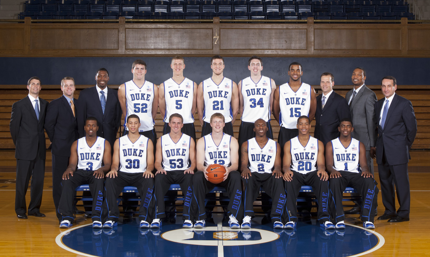 Duke s loaded 2010-11 roster featured three players who would go on to be  taken in the 2011 NBA draft — Kyrie Irving (bottom row 7cb38e243