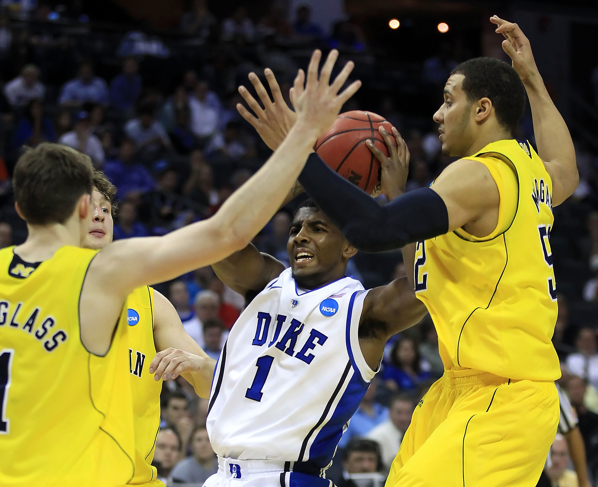 buy online 6b29c d9dc2 Only one field goal attempt dropped for Kyrie Irving against Michigan in  the NCAA tournament — a clutch, go-ahead bucket with 32 seconds left.
