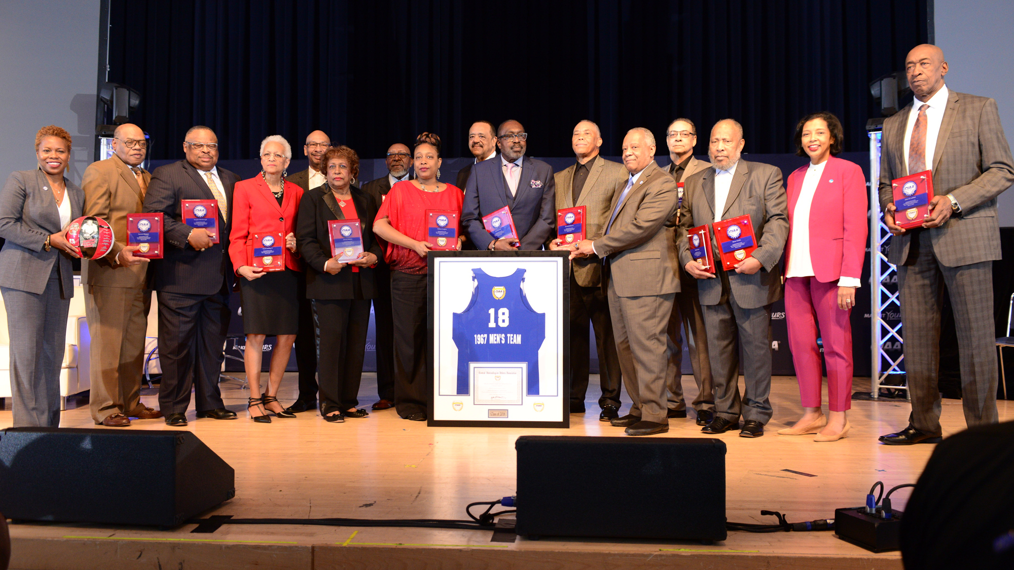 1967 Winston-Salem State College team induction into the CIAA hall of hame in 2018