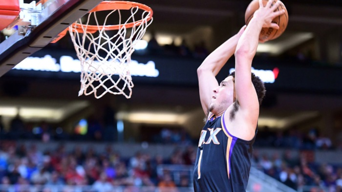 best loved fad75 a6fcd Devin Booker aims to rise with Suns