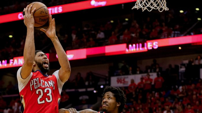 2f48748c41e NBA  Playoffs-Portland Trail Blazers at New Orleans Pelicans New Orleans  Pelicans forward Anthony Davis ...