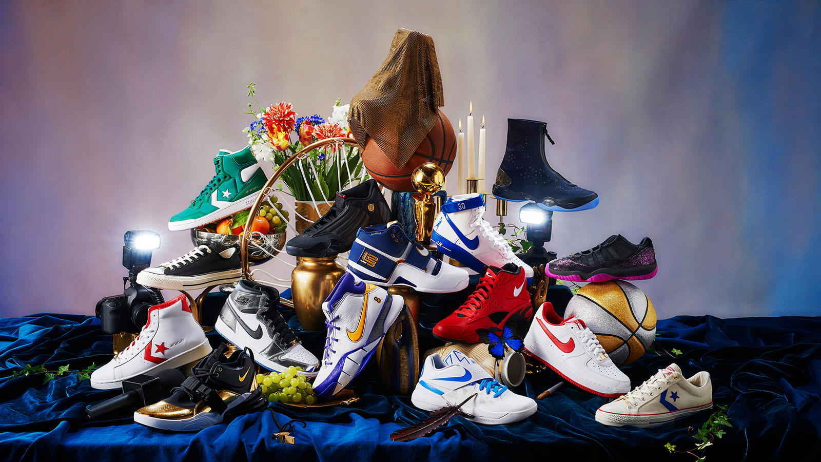 buy popular 8430a 22e9f  Art of a Champion  exhibit celebrates best playoff sneakers from Nike,  Jordan and Converse