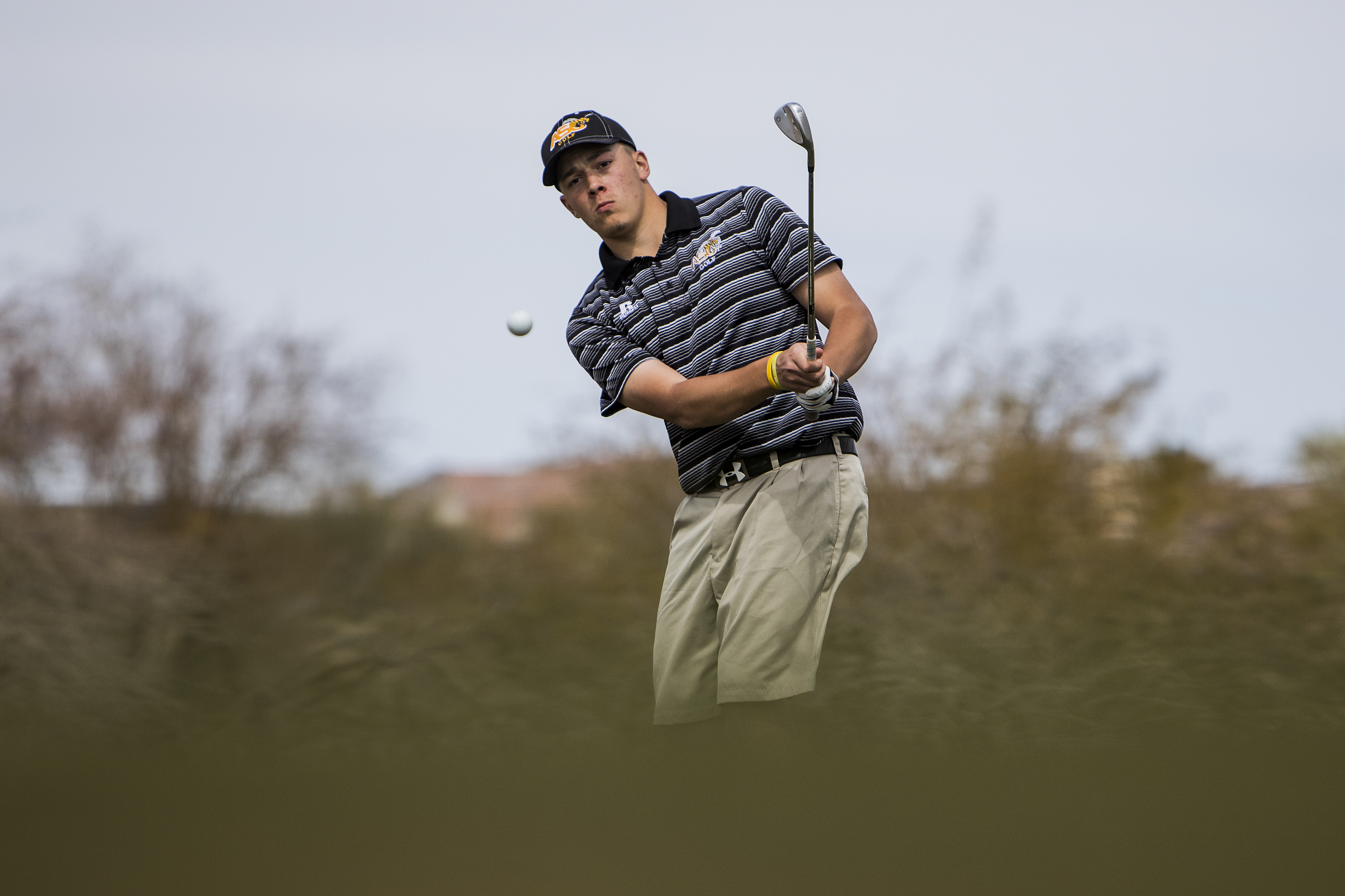 b1ef7cd9eba39c Alabama State freshman Alexandre Belanger takes a practice round at the  Boulder Creek Golf Club before tournament play in Boulder City, Nev., March  8, 2018: