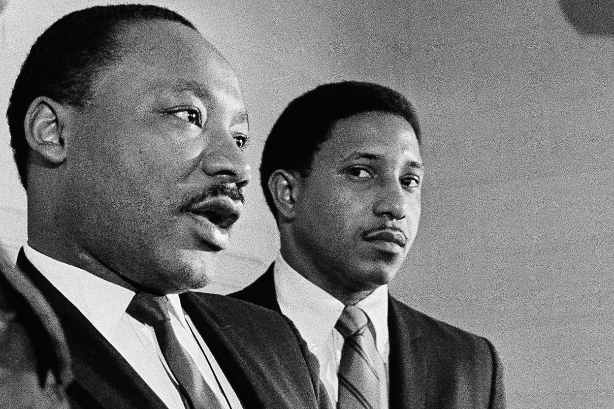 16 1968 File Photo Martin Luther King Left Accompanied By Rev Bernard Lafayette Talks About A Planned March On Washington DC During News