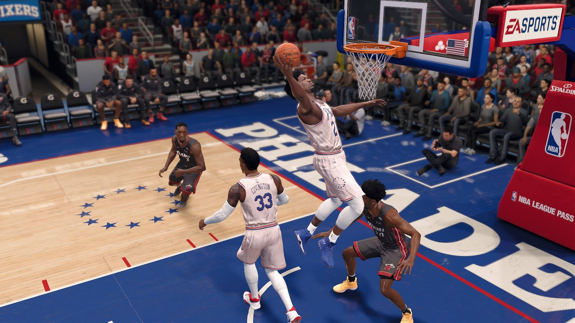 Sim Life with 'NBA LIVE 18': Heat at Sixers, Spurs at Warriors