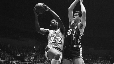 Elgin Baylor Playing Basketball