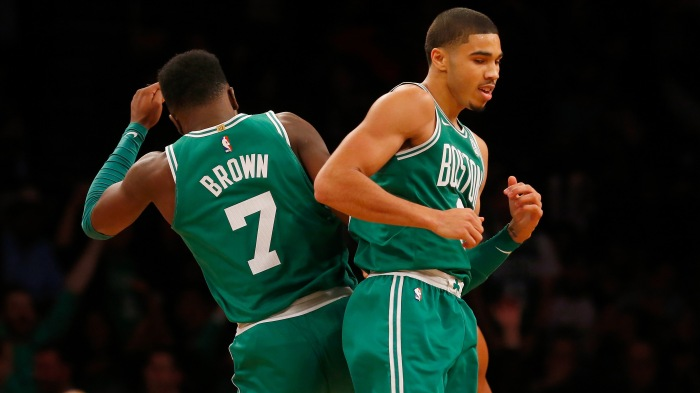 Boston s Jayson Tatum and Jaylen Brown get playoff basketball lesson No. 1 63df8aa4f