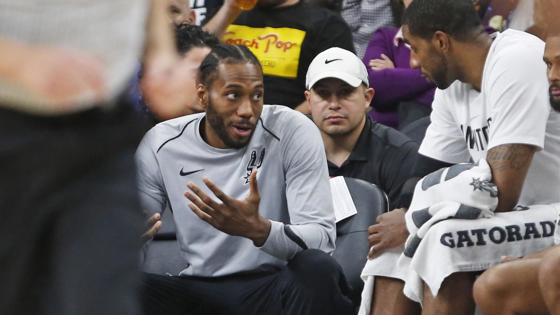174753672de Spurs playoff opener begs the question: Where is Kawhi Leonard?