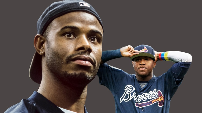 d1de20a9d7 From Ken Griffey Jr. to the Braves' Ronald Acuña — is Major League Baseball  still not feeling hats to the back?