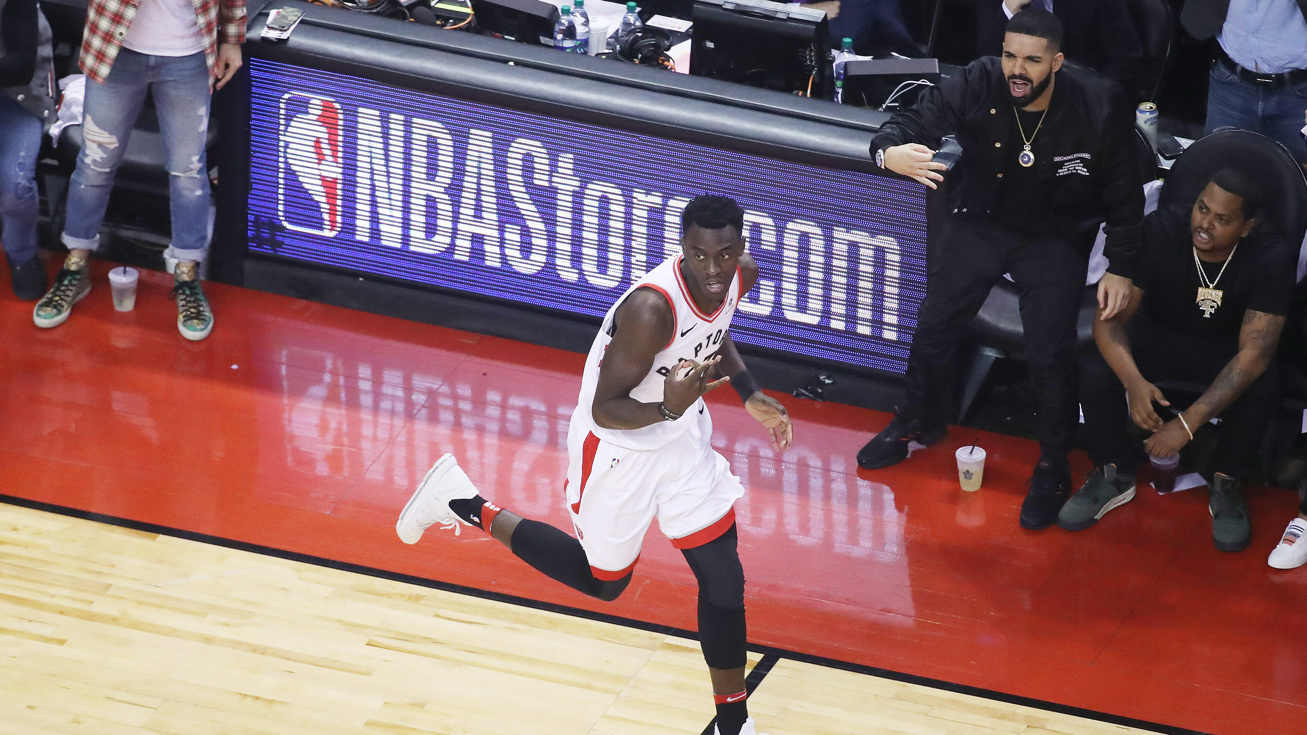 Toronto Raptors play the Cleveland Cavaliers in game 1 of the second round of the NBA playoffs