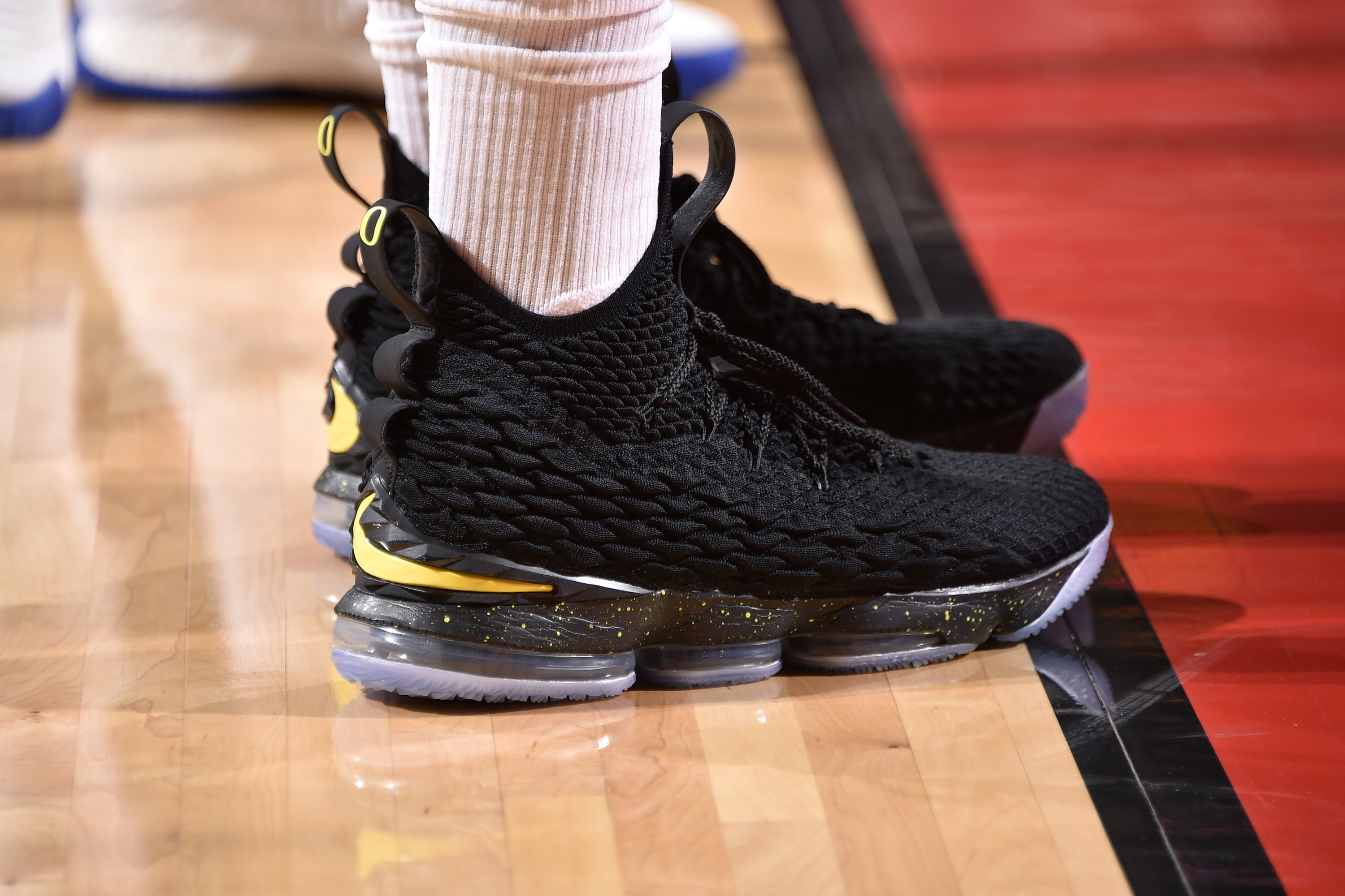 The sneakers of P.J. Tucker of the Houston Rockets during Game 5 against  the Golden State Warriors in the Western Conference finals on May 22 at the  Toyota ... 9d8c136bf