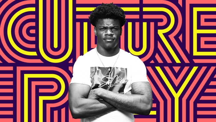 df13c5cc7a6 Baltimore Ravens rookie Lamar Jackson is into 21 Savage and NBA YoungBoy —  and old-school Miami Hurricanes football