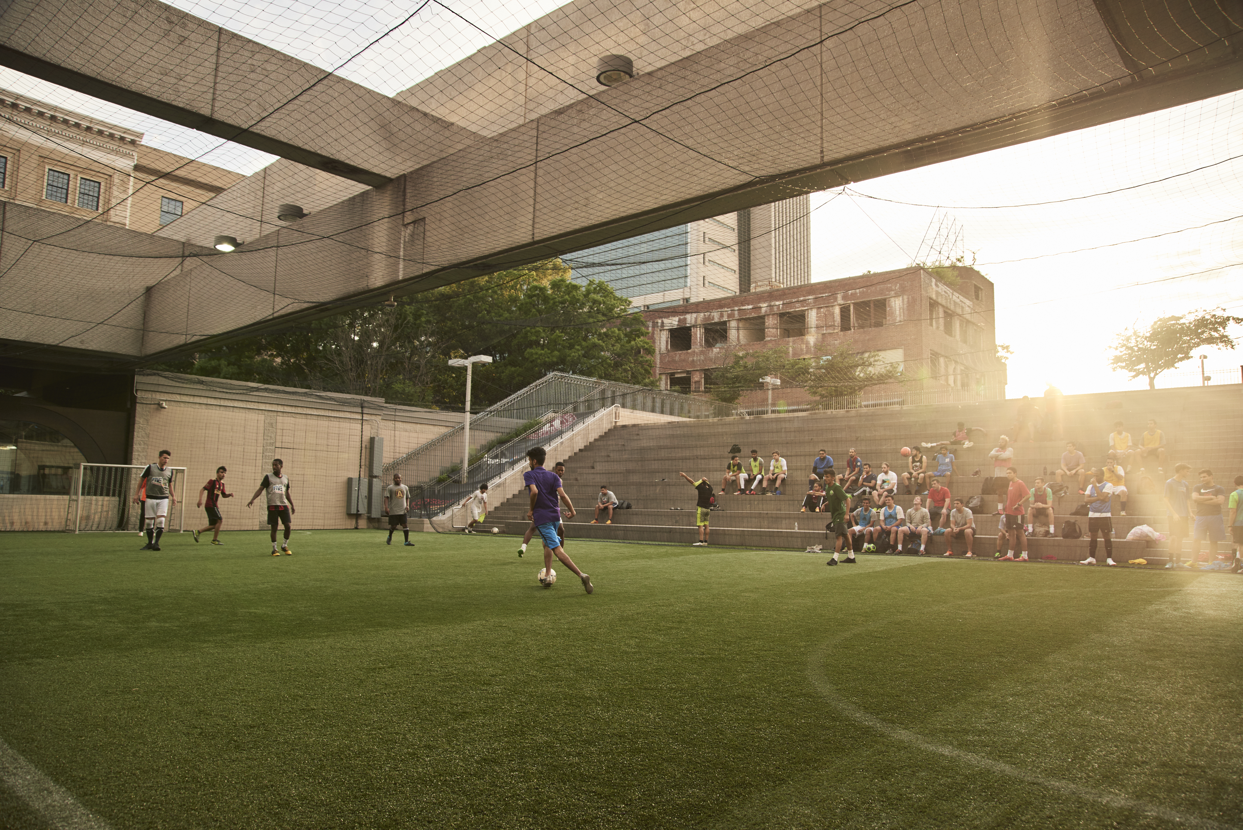 15a0539563b4 The Five Points MARTA station is home to a soccer field, developed through  a program called Soccer In The Streets, which looks to garner interest in  soccer ...
