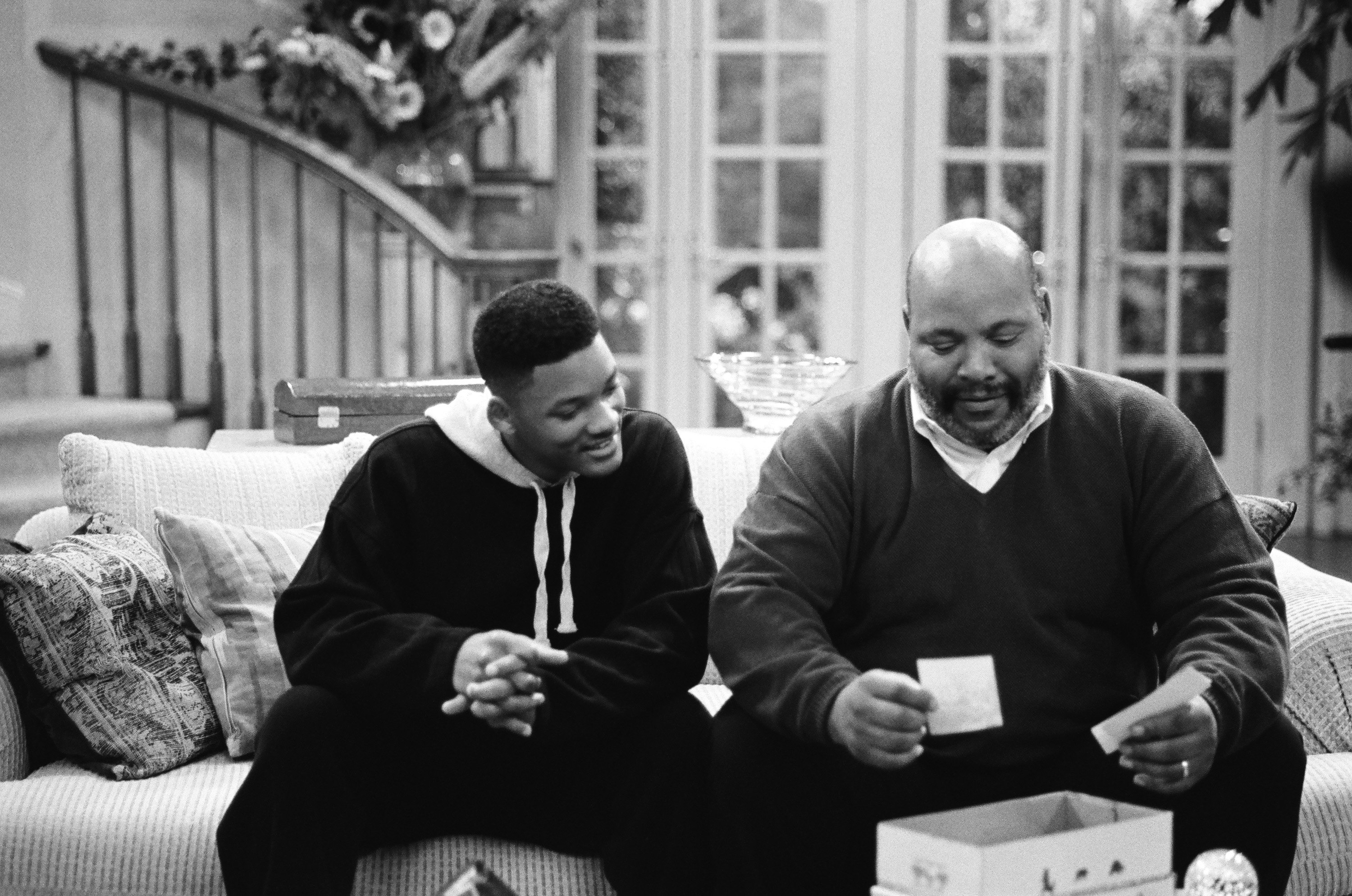 Will Smith and James Avery during a 1994 taping of The Fresh Prince of  Bel-Air.