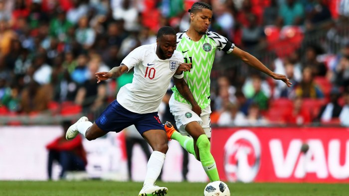 2018 International Football Friendly England v Nigeria Jun 2nd