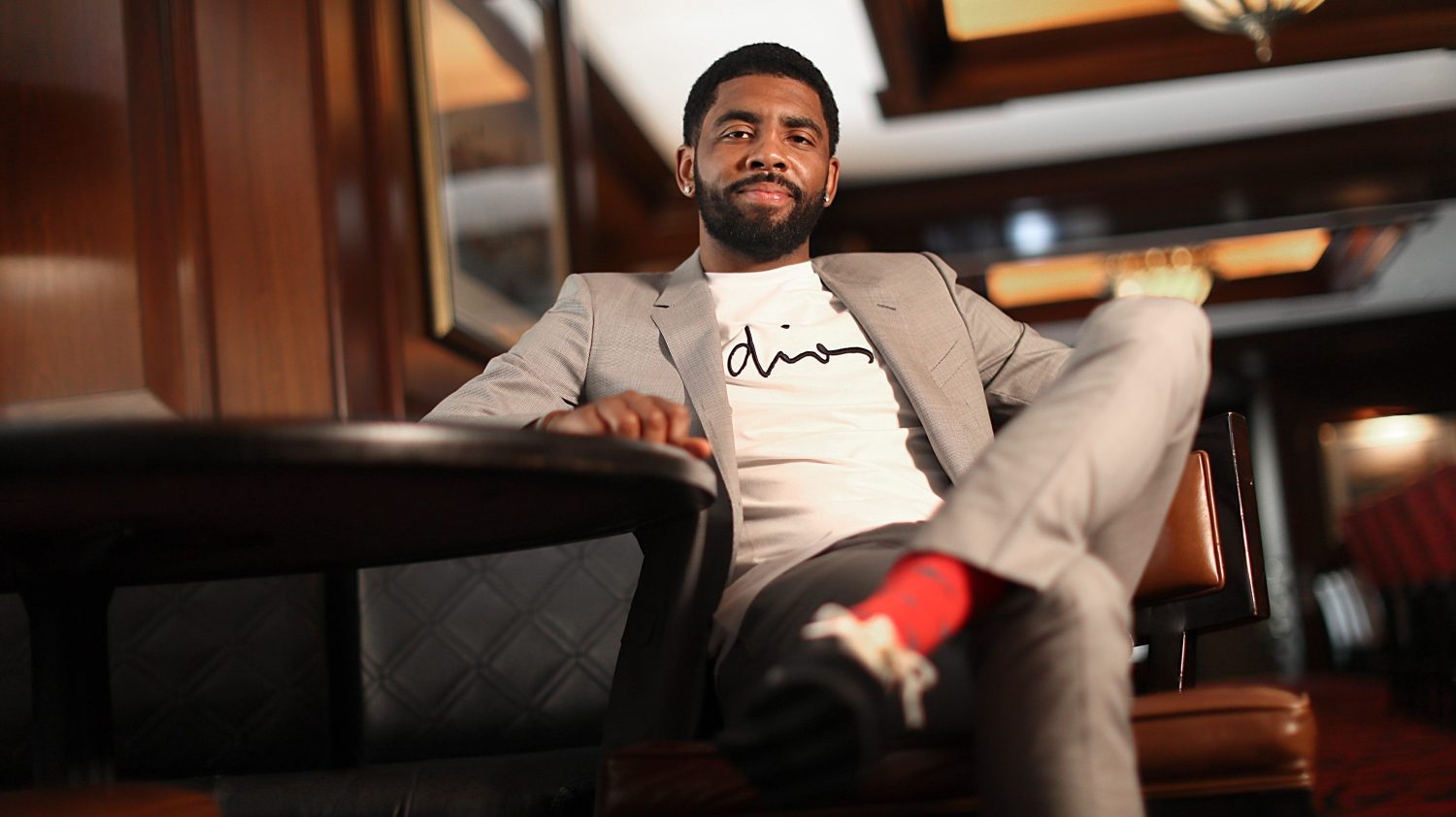 8c6ea5c8f Kyrie Irving talks missing the Eastern Conference finals, staying in Boston  and his new movie 'Uncle Drew'