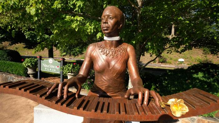 Nina Simone Plaza in downtown Tryon, NC.