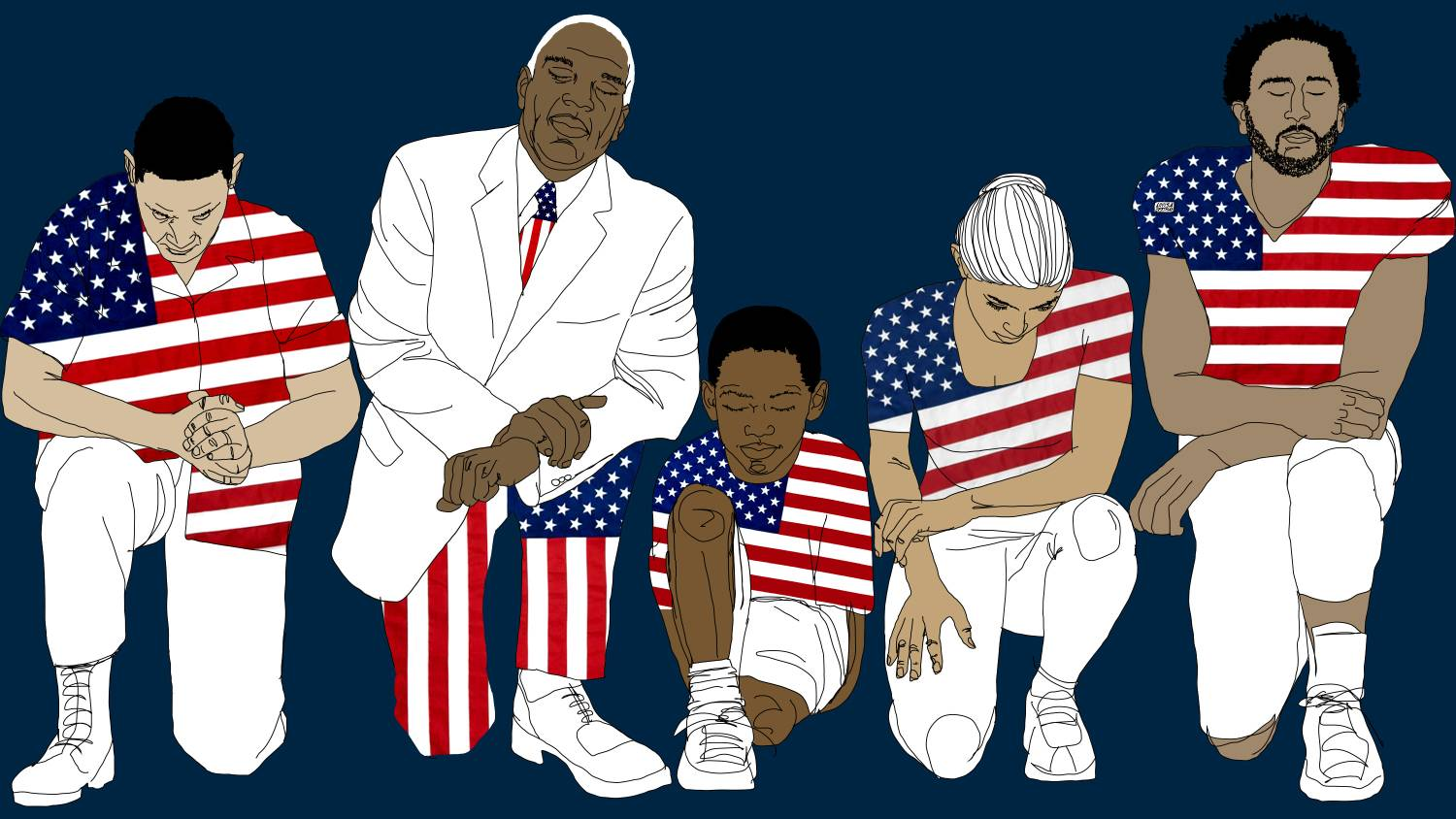 on flag day the most patriotic among us should be kneeling