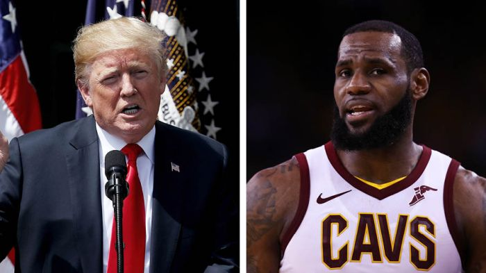 c425a620931c LeBron vs. Trump  a one-sided battle