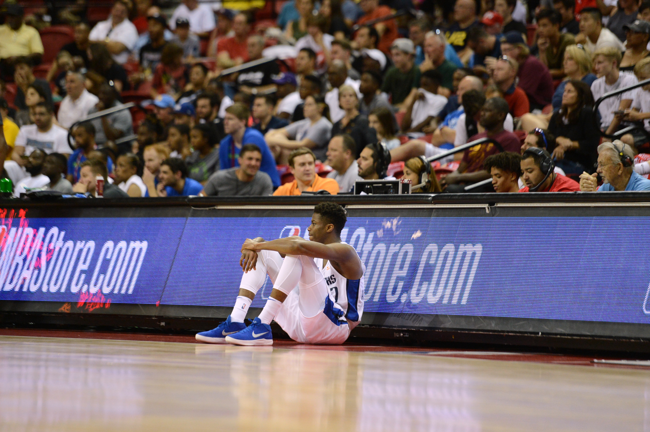 Dallas Mavericks forward Kostas Antetokounmpo waits to sub in during an NBA  summer league game against the Chicago Bulls at Thomas   Mack Center. aaaf1d556