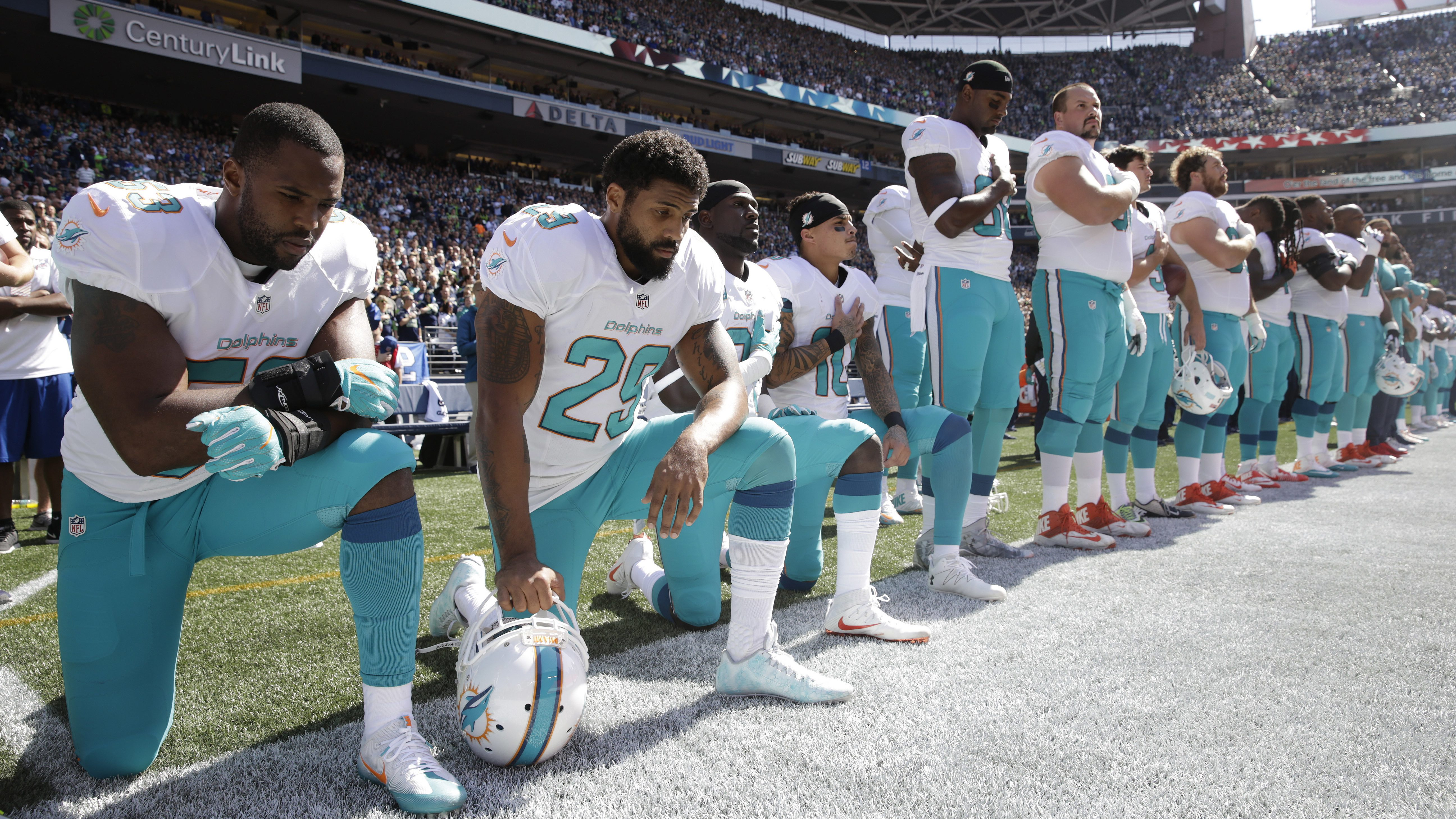 Anthem Policy-Dolphins Football