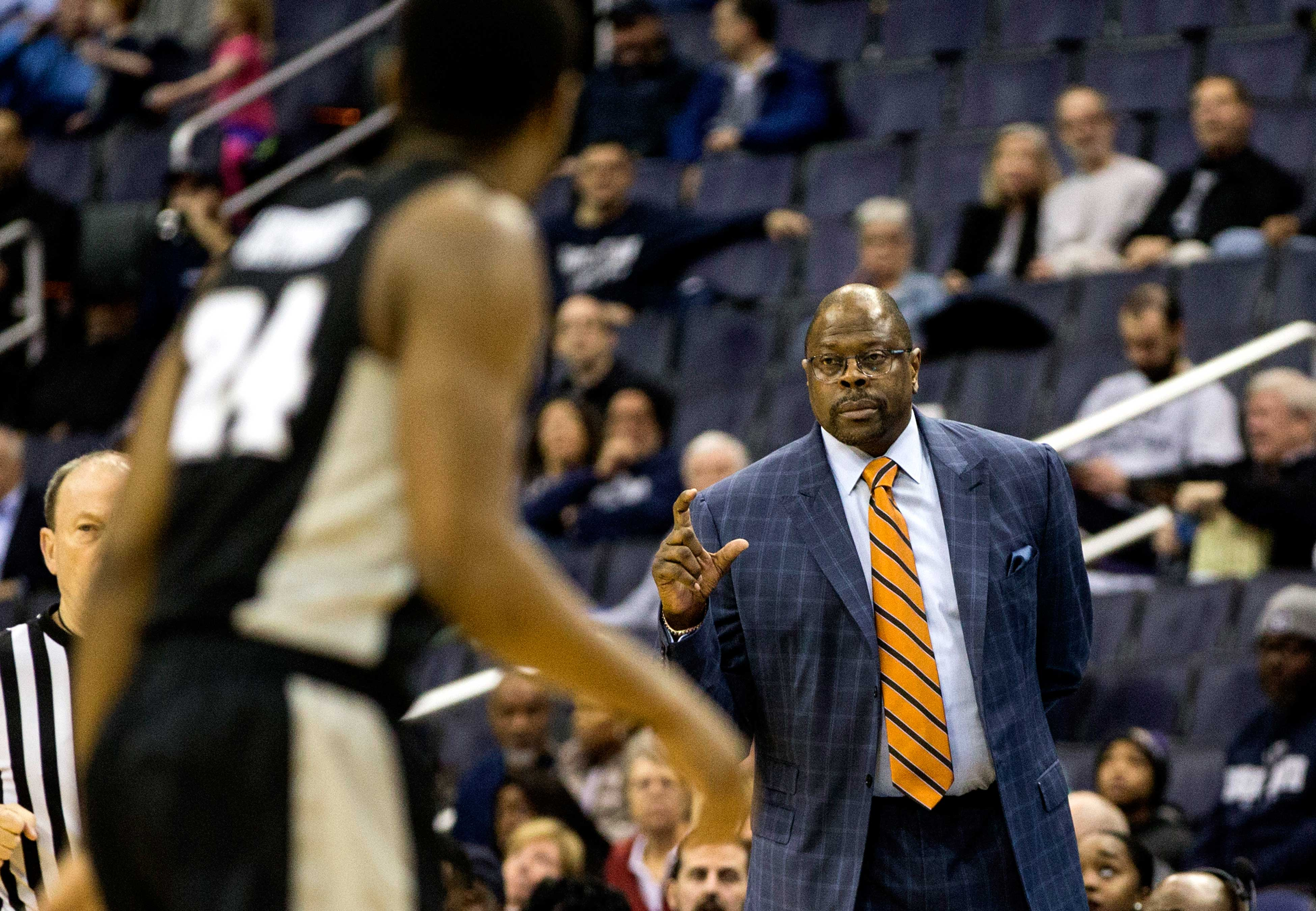 Georgetown Coach Patrick Ewing During A Big East Mens Basketball Game Between The Hoyas And Providence Friars On Feb