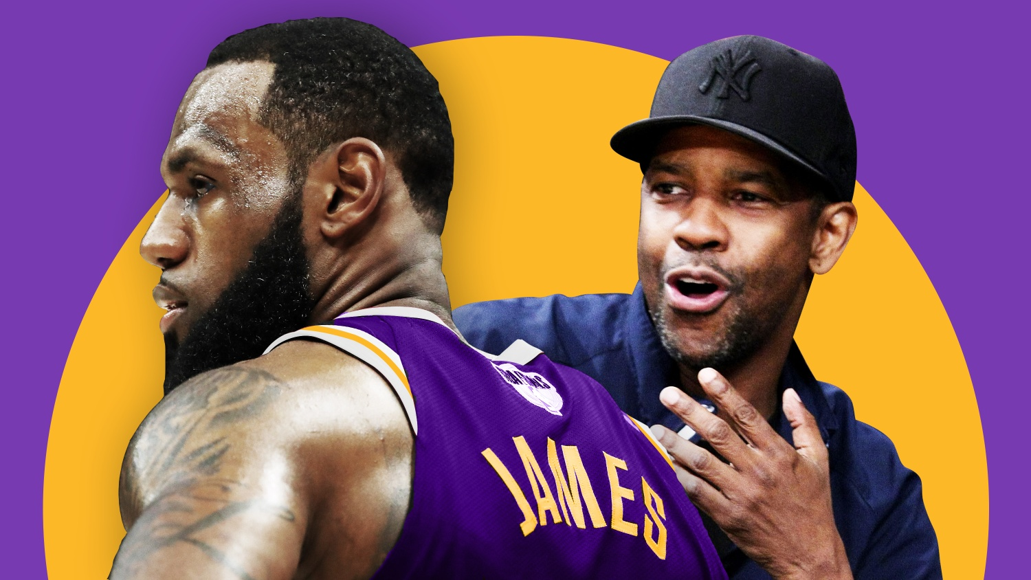 7ade75a4908 An equalizer that Lakers fan Denzel Washington is superexcited about  LeBron  James