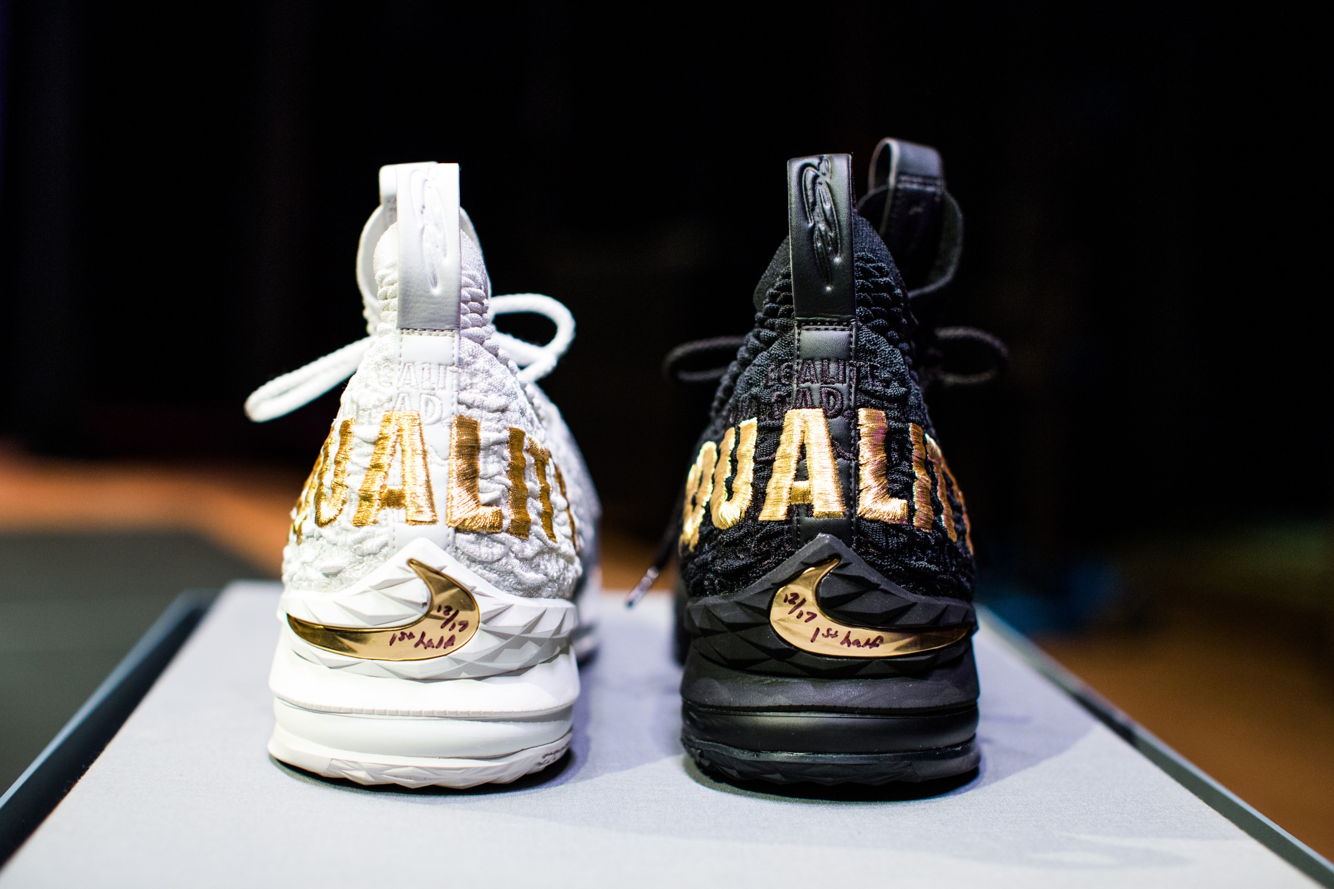 86c196e13f9 The Nike LeBron 15  EQUALITY  sneakers find a home at the Smithsonian