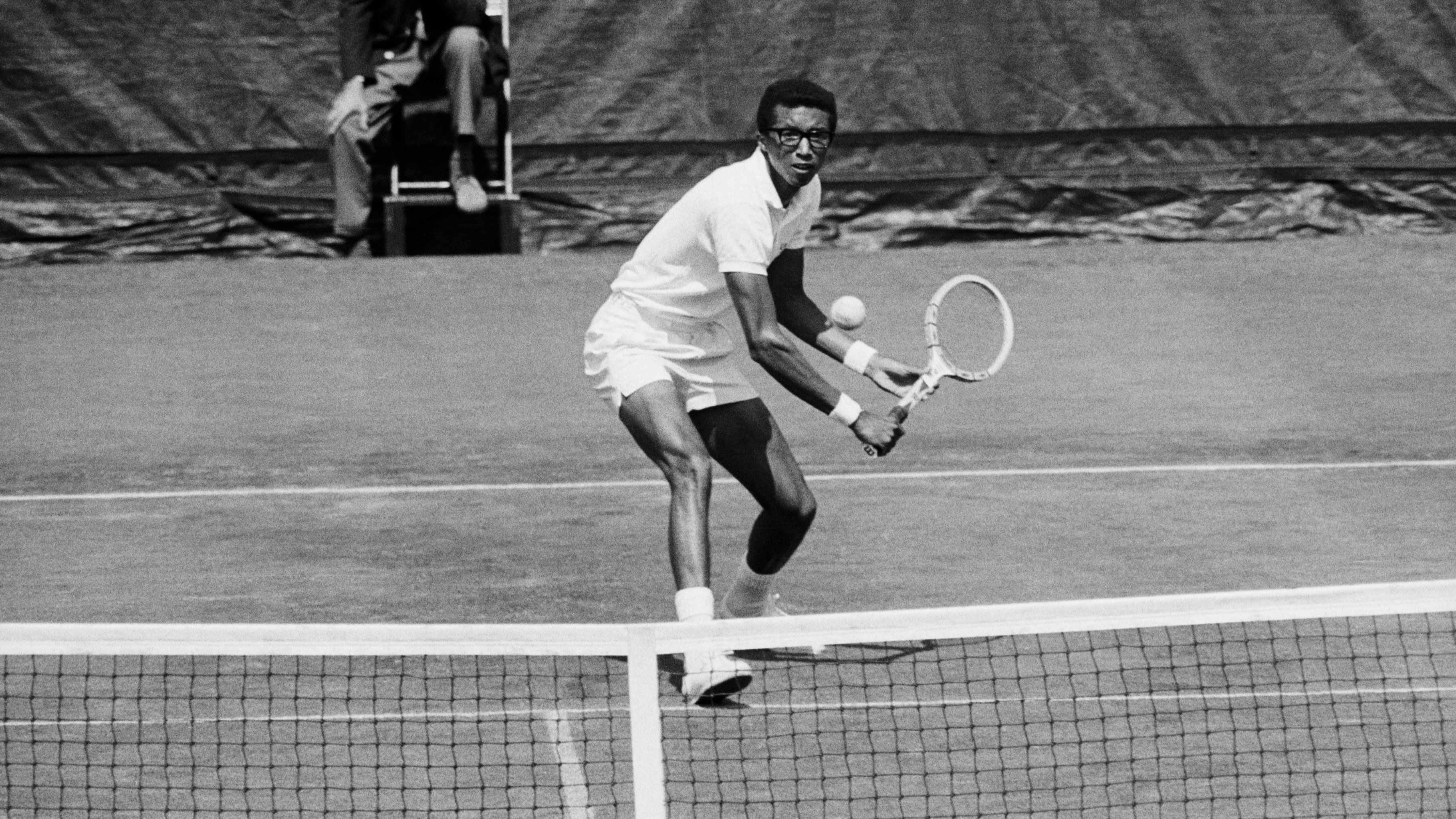 Arthur Ashe And Tom Okker-U.S. Open
