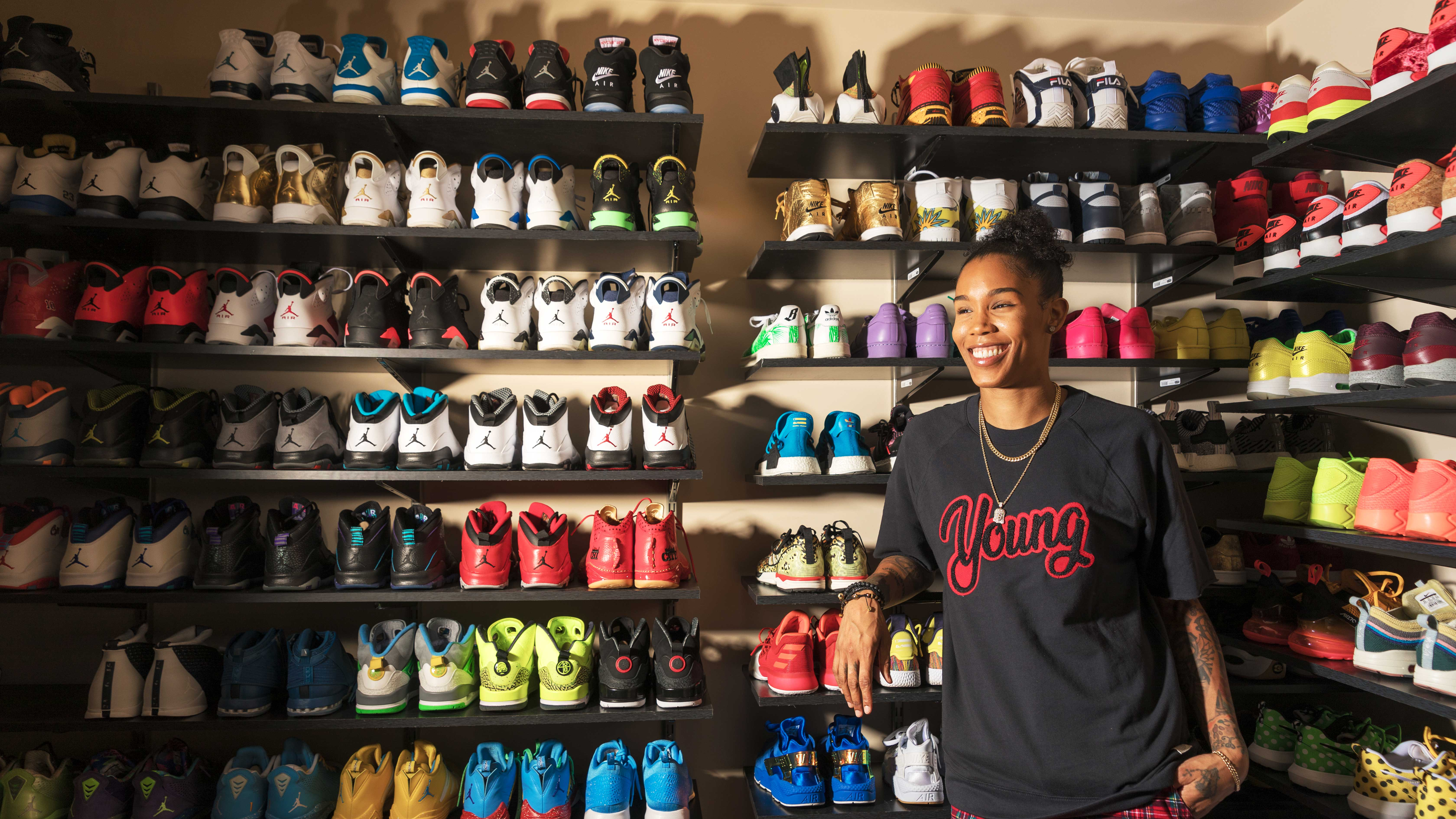 Inside the sneaker room of Tamera u0027Tyu0027