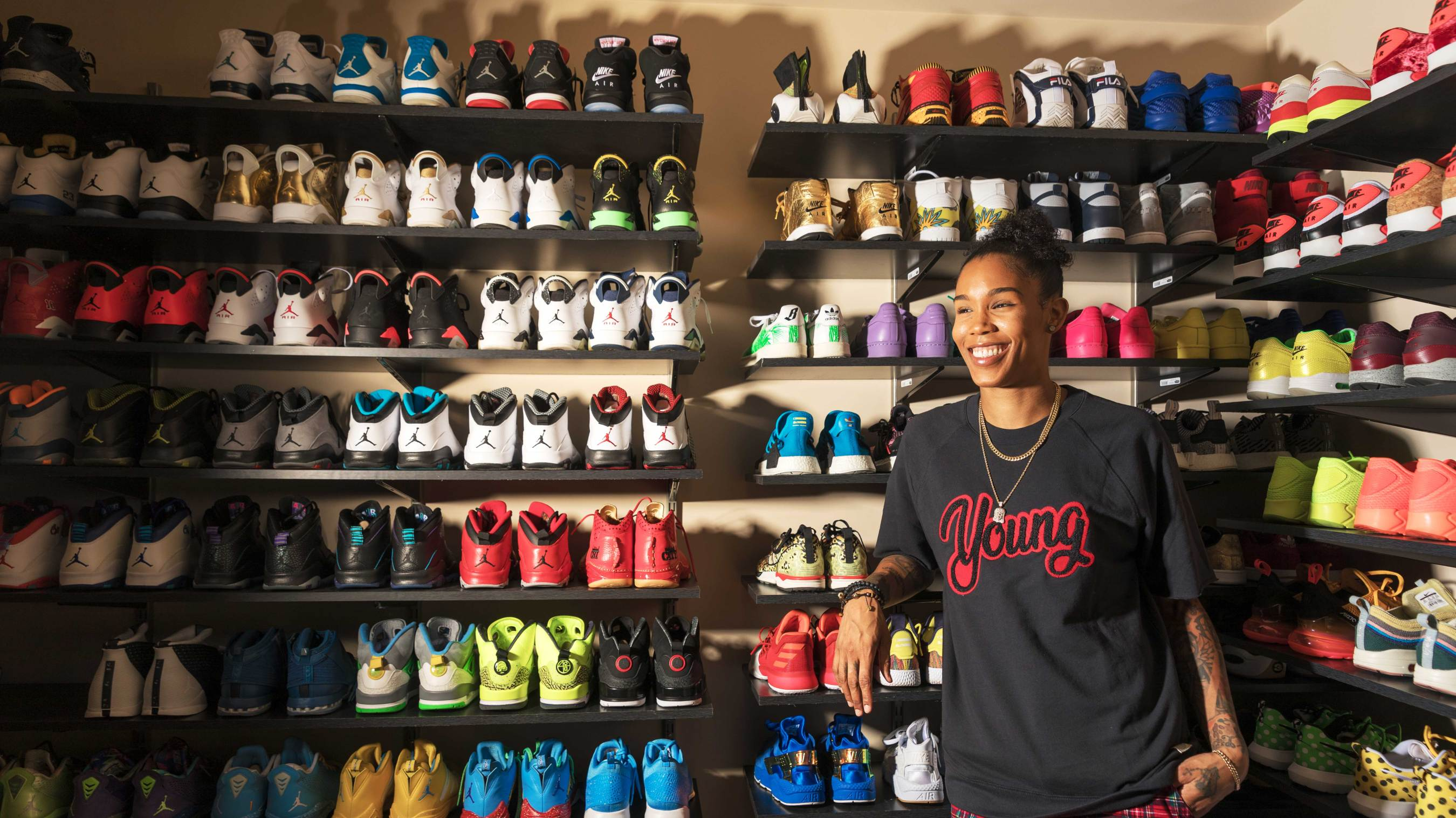 918b4fb30c83f Inside the sneaker room of Tamera  Ty  Young — the WNBA s biggest  sneakerhead