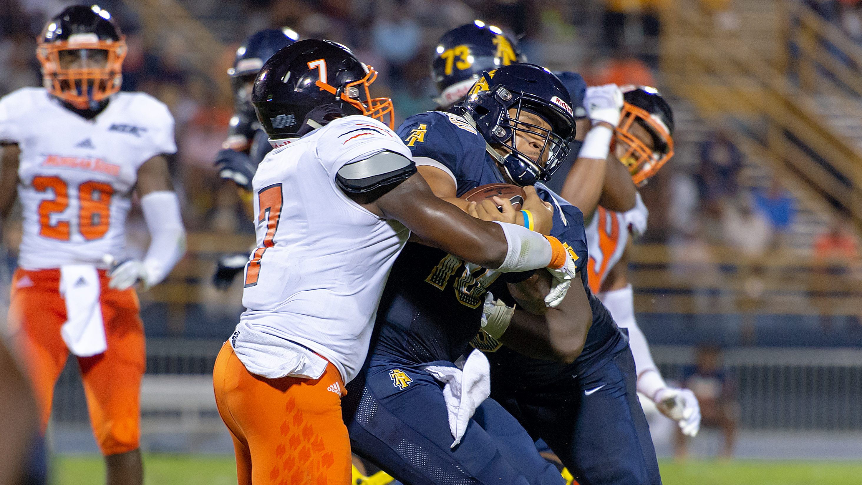 2018 A&T Football vs Morgan State  www.ncataggies.com – Photo by: Kevin L. Dorsey