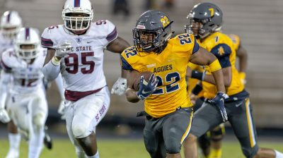 2018 A&T Football vs SC State (ESPN-U)  www.ncataggies.com – Photo by: Kevin L. Dorsey