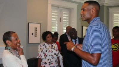 Grant Hill and Spelman President Mary Schmidt Campbell
