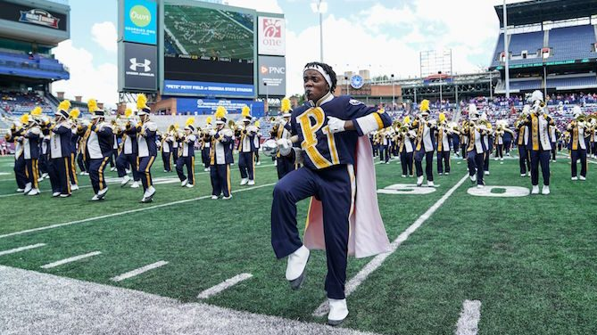 Prairie View A&M Marching Storm at the 2018 MEAC/SWAC Challenge in Atlanta